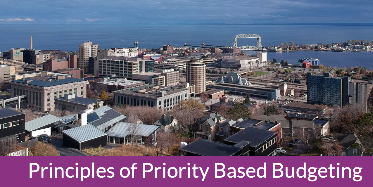 Creating Community Alignment through Priority Based Budgeting in Duluth